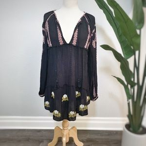 FREE PEOPLE | Tribal Trim Embroidered Eyelet Dress